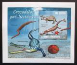 Poštovní známka Svatý Tomáš 2010 Prehistoričtí krokodýli Mi# 4305 Block