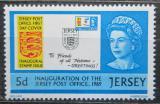 Poštovní známka Jersey, Velká Británie 1969 Otevření poštovních služeb Mi # 23