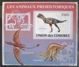 Poštovní známka Komory 2009 Dinosauři DELUXE neperf. Mi # 2172 B Block