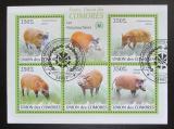 Poštovní známky Komory 2009 Štětkoun africký Mi# 2430-34 Kat 9€