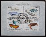 Poštovní známky Komory 2009 Mořská fauna Mi# 2717-20 Kat 9€