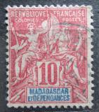 Poštovní známka Madagaskar 1900 Koloniální alegorie Mi# 44