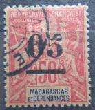 Poštovní známka Madagaskar 1902 Koloniální alegorie přetisk Mi# 49 Kat 5€
