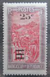 Poštovní známka Madagaskar 1925 Místní krajina přetisk Mi# 168