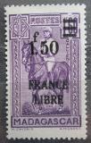 Poštovní známka Madagaskar 1943 Generál Gallieni přetisk Mi# 311
