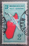 Poštovní známka Madagaskar 1935 Letadlo a mapa Mi# 218