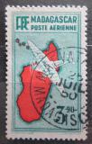 Poštovní známka Madagaskar 1941 Letadlo a mapa Mi# 275