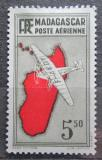 Poštovní známka Madagaskar 1941 Letadlo a mapa Mi# 276