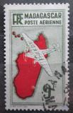 Poštovní známka Madagaskar 1941 Letadlo a mapa Mi# 279