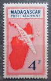 Poštovní známka Madagaskar 1942 Letadlo a mapa Mi# 321