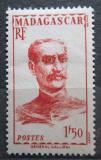 Poštovní známka Madagaskar 1946 Generál Gallieni Mi# 395