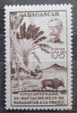 Poštovní známka Madagaskar 1946 Spojení s Francií, 40. výročí Mi# 406