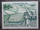 Poštovní známka Madagaskar 1956 Hydraulické čerpání vody Mi# 434