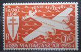 Poštovní známka Madagaskar 1943 Letadlo Mi# 364