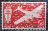 Poštovní známka Madagaskar 1943 Letadlo Mi# 365