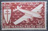 Poštovní známka Madagaskar 1943 Letadlo Mi# 366