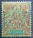 Poštovní známka Madagaskar 1896 Koloniální alegorie Mi# 34