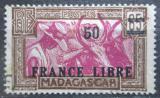 Poštovní známka Madagaskar 1942 Zebu přetisk Mi# 284