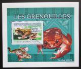 Poštovní známka Guinea 2009 Žáby DELUXE neperf. Mi# 6383 B Block