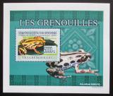 Poštovní známka Guinea 2009 Žáby DELUXE neperf. Mi# 6388 B Block