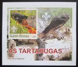 Poštovní známka Guinea-Bissau 2003 Želvy DELUXE neperf. Mi# 2583 B Block