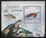 Poštovní známky Komory 2009 Želvy DELUXE neperf. Mi# 2340 B Block