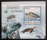 Poštovní známka Komory 2009 Želvy DELUXE neperf. Mi# 2341 B Block