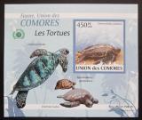 Poštovní známka Komory 2009 Želvy DELUXE neperf. Mi# 2342 B Block