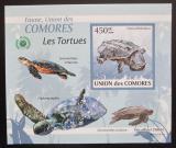 Poštovní známka Komory 2009 Želvy DELUXE neperf. Mi# 2343 B Block