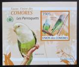 Poštovní známka Komory 2009 Papoušci DELUXE neperf. Mi# 2387 B Block