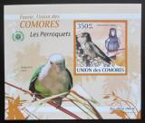 Poštovní známka Komory 2009 Papoušci DELUXE neperf. Mi# 2388 B Block