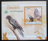 Poštovní známka Komory 2009 Papoušci DELUXE neperf. Mi# 2389 B Block