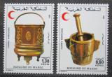 Poštovní známky Maroko 1981 Výrobky z kovu Mi# 965-66