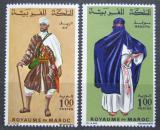 Poštovní známky Maroko 1968 Lidové kroje Mi# 597-98