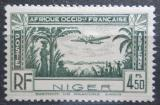 Poštovní známka Niger 1940 Letadlo nad pobřežím Mi# 97