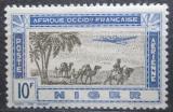 Poštovní známka Niger 1942 Letadlo nad karavanou Mi# 116