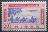 Poštovní známka Niger 1942 Letadlo nad karavanou Mi# 117