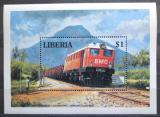 Poštovní známka Libérie 1994 Dieselová lokomotiva Mi# Block 134
