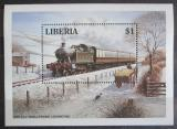 Poštovní známka Libérie 1994 Parní lokomotiva Mi# Block 136