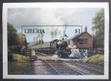 Poštovní známka Libérie 1994 Parní lokomotiva Mi# Block 137