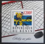 Poštovní známka Benin 2015 Oliver Ekman Larsson, lední hokej Mi# N/N