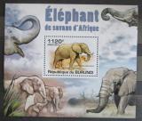 Poštovní známka Burundi 2011 Sloni DELUXE Mi# 2031 Block