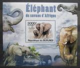 Poštovní známka Burundi 2011 Sloni DELUXE Mi# 2033 Block