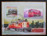 Poštovní známka Mosambik 2009 Dieselové lokomotivy Mi# Block 249 Kat 10€