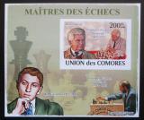 Poštovní známka Komory 2009 Světoví šachisti DELUXE neperf. Mi# 2058 B Block