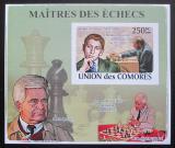 Poštovní známka Komory 2009 Světoví šachisti DELUXE neperf. Mi# 2059 B Block