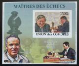 Poštovní známka Komory 2009 Světoví šachisti DELUXE neperf. Mi# 2060 B Block