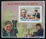 Poštovní známka Komory 2009 Světoví šachisti DELUXE neperf. Mi# 2061 B Block