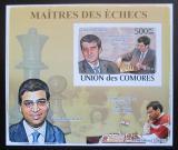 Poštovní známka Komory 2009 Světoví šachisti DELUXE neperf. Mi# 2062 B Block