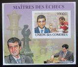 Poštovní známka Komory 2009 Světoví šachisti DELUXE neperf. Mi# 2063 B Block